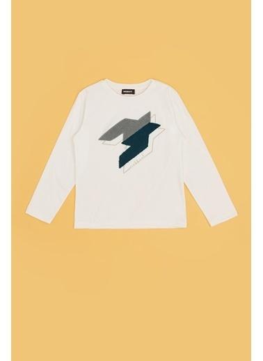 Nebbati Erkek Çocuk Beyaz T-Shirt 20Fw0Nb3520 Beyaz